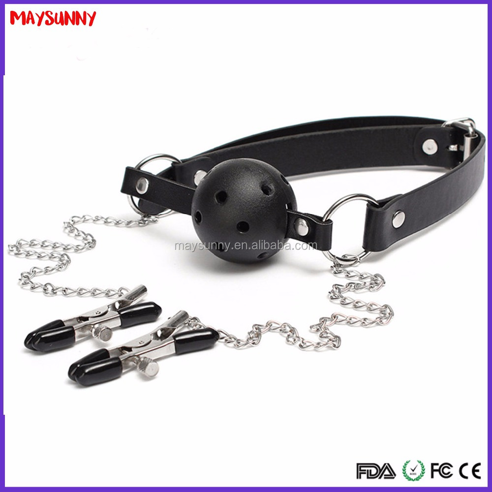 Adult Sex Toy For BDSM Sexual Plug With Nipple Clip