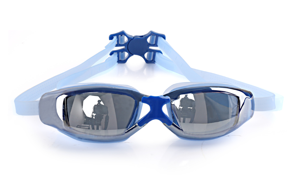 Colors Silicone New Mirrored Swimming Glasses hot sale swim eyewear