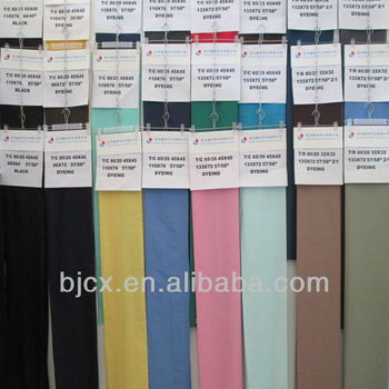 "T/C 90/10 45X45 110X76 44/45"" pocketing and lining fabric"