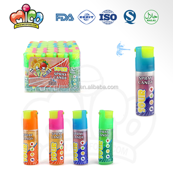lighter shaped sour liquid spray candy