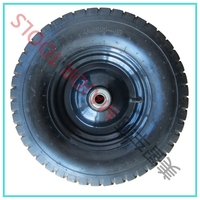 "Qingdao 16""*4.00-8 pneumatic rubber rim 4.80/400-8 wheel barrow tire 480/400-8 with low price"