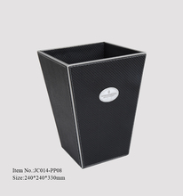 High quality 5 star hotel leather mini rectangular garbage can
