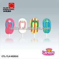 LANTOS BRAND 28g marshmallow lollipop candy with good quality and lovely shapes