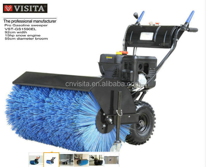 92cm 15hp Gasoline Powered Street Sweeper/ power broom/ snow sweeper