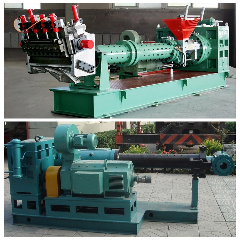 Pin-Barrel Cold Feed Rubber Extruder For Tire Tread Rubber