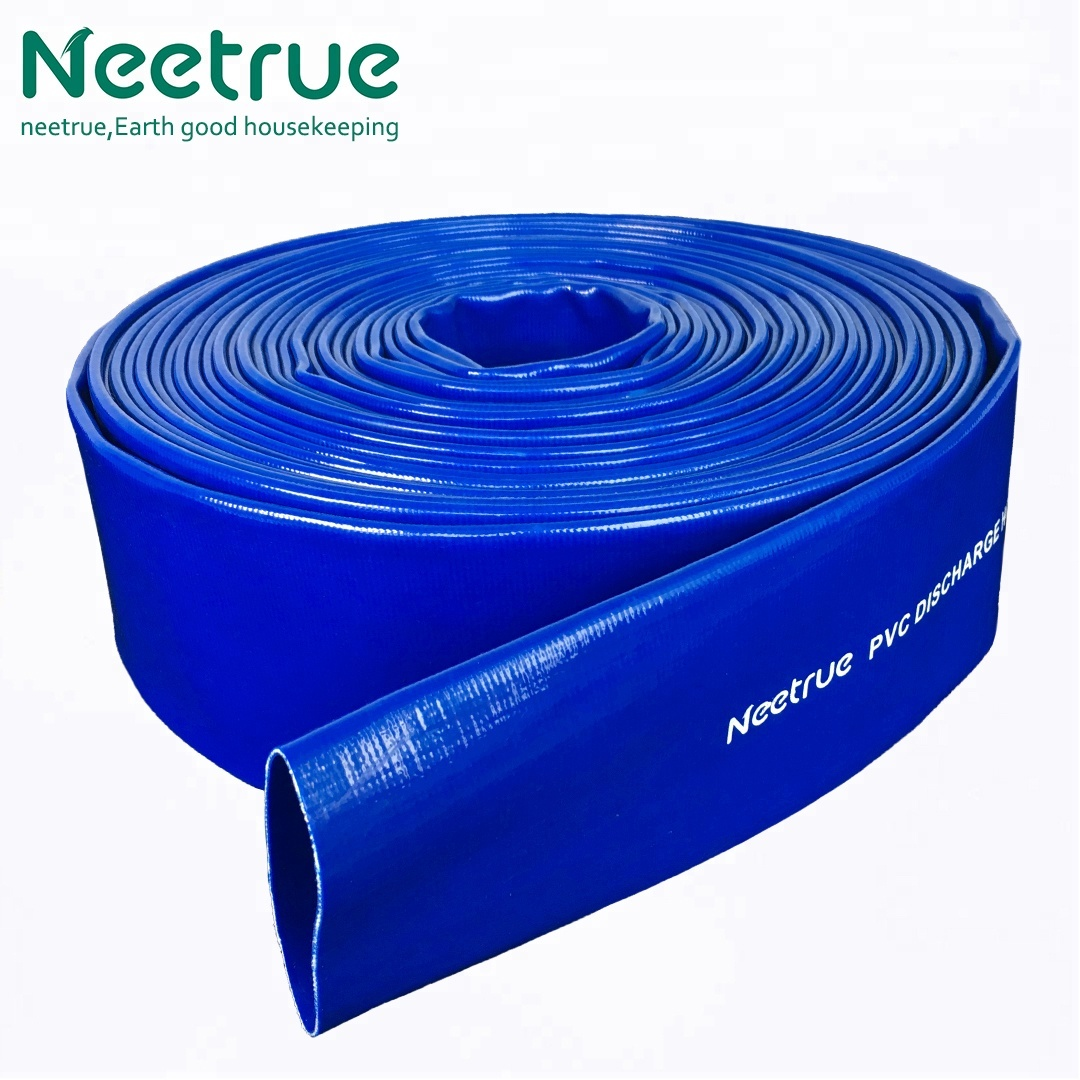"1-1/4"" <strong>PVC</strong> reinforced lay flat discharge hose"
