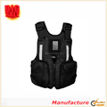 Outdoor fishing and boating life jacket with pockets and zipper life jacket