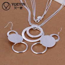 2014 adequate stock chunky silver necklaces and earring sets