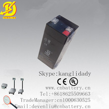 High stable performance 4v rechargeable valve regulated lead acid battery 4v4.5ah