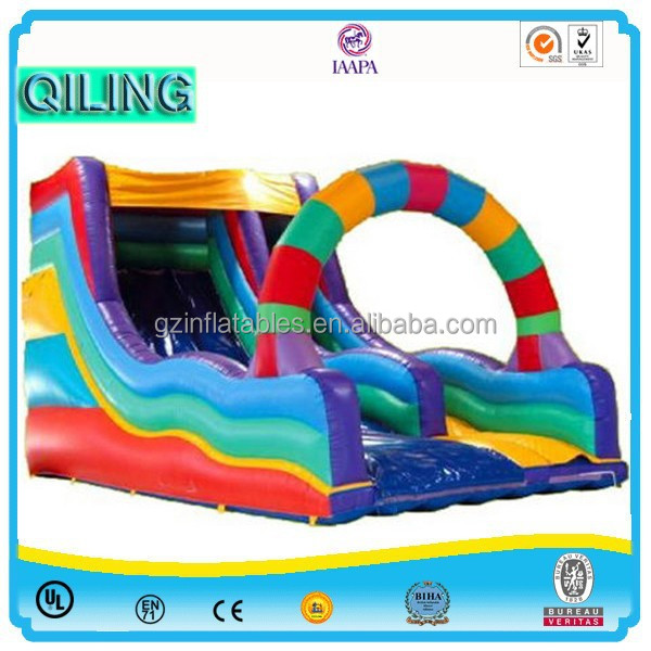 2015 beautiful warm Christmas decoration kids game inflatable Christmas house slide