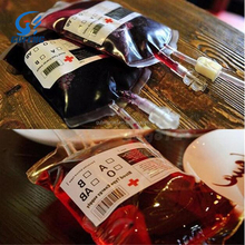 wholesale Cheap food grade PVC plastic blood bag for packaging beverage