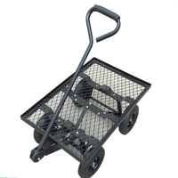 Wagon Garden Cart Nursery Steel Mesh Deck Trailer
