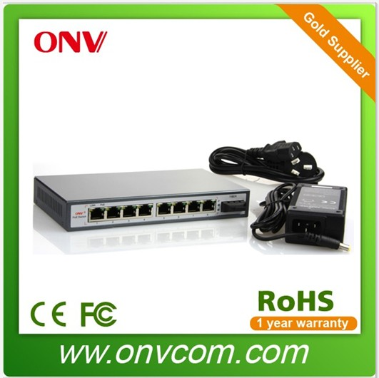 9 Port 10/100M PoE Switch with 8 PoE Ports Switch for cctv wifi camera