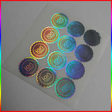 Original custom hologram stickers (30mm round anti counterfeit laser stickers one time use)