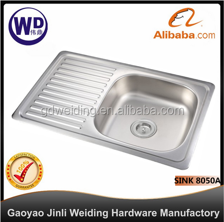 Stainless Steel Kitchen Bar Sink Topmount Single Bowl kitchen sink accessories Sink-8050A kitchen sink online