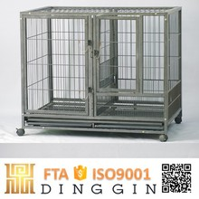 Pet tube dog cage with wheels