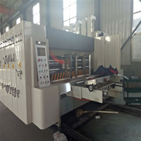 TOP SALE Full-auto corrugated cardboard carton box flexo die cutting and printing machine with slotting