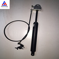 controllable rigid gas spring with cable and button lever for recliner sofa and chair