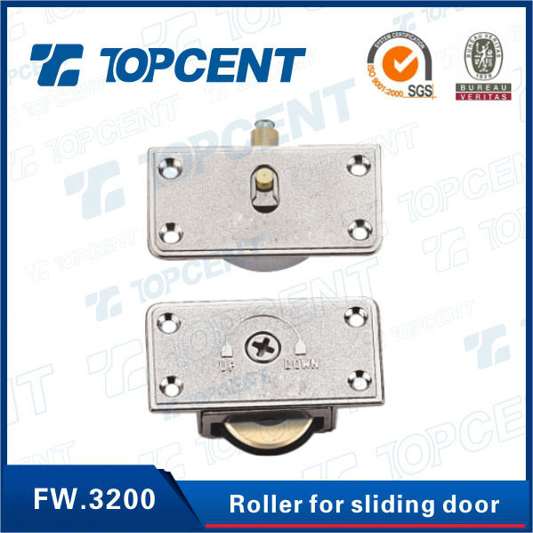 Zinc alloy and brass wardrobe bottom sliding door track roller