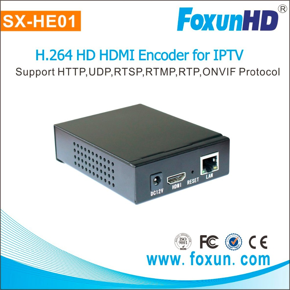 Foxun hot sale SX-HE01 h.264 digital video recorder with resolution 1080P hdmi h.264 encoder for IPTV