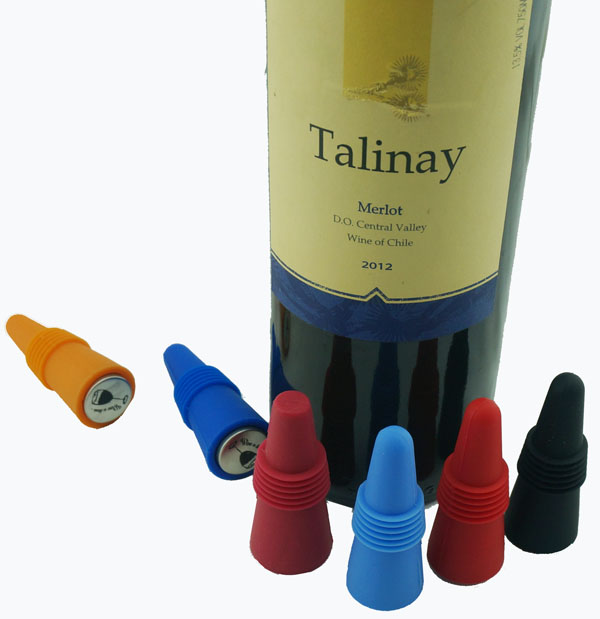 100% Food Grade Colorful Silicone Wine Bottle Stopper