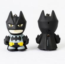 New Arrival Flashlight Keychain Figure Keyrings Cool Batman Keychain Led With Sound