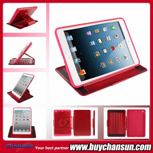 Luxury pc+tpu combo Rotating Stand Cases For Tablets for iPad Air,Cases For Tablets with factory price