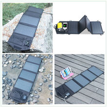 14W waterproof light weight folding solar charger for tablet PC with voltage stabilizer