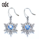 ODM OEM crystals from Swarovski jewelry manufacturer custom 2017 new design Christmas fashion snowflake earrings