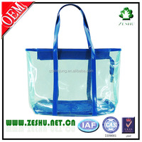 High quality blue transparent beach bag