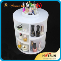 table standing white acrylic nail polish organizer storage dispaly case