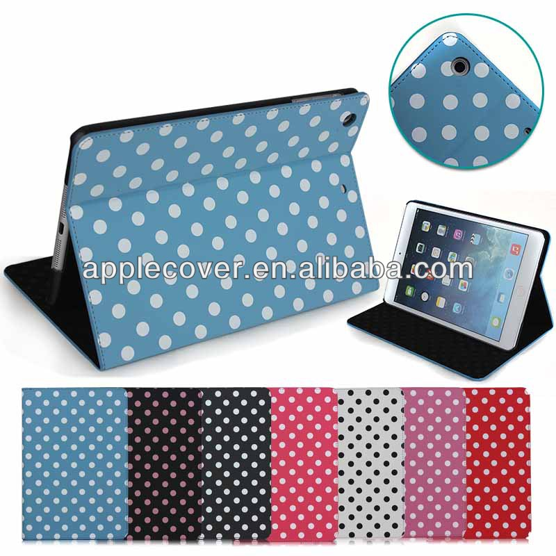 Polka Dot Leather Case for iPad Mini 2 tablet accessory