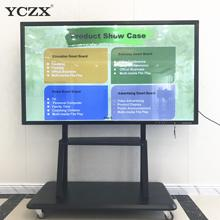 YCZX wall mounted 86inch interactive smart white board with android& IR touch 10oints for conference school teaching use