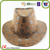 Wood Pattern Sublimation High Quality Cool Cow Boy Leather Cap