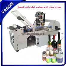 Semi Automatic Round Bottle Sticker Label Printing Machine