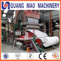 Low Cost 2100mm Excellent Quality toilet tissue paper making machine, raw material: bamboo,wood, straw, stalk,etc.