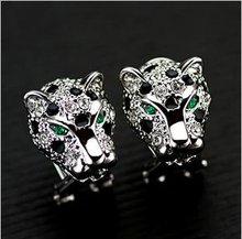 high fashion leopard head earrings jewelry