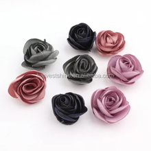 Fancy chiffon fabric flowers,small tissue fabric flowers