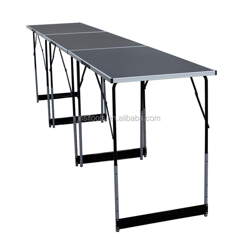 Metal Outdoor Picnic Folding Table/Beer Pong Foldable Table