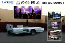 Mobile LED video screen trailer, digital advertising vehicles mounted with led signage for sale