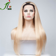 Ombre 1B 613 Long Indian Human Hair Full Lace Wig Natural Ponytail Glueless Full Lace Wig With Baby Hair