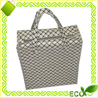 factory sale bopp laminated polypropylene woven recycled tote shopping reusable promotional zipped bag