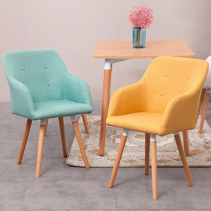<strong>U10</strong> Best Selling US Elegant Dining Chair Fabric Chair with Solid Steel Leg and Fabric Cushion