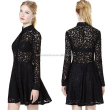 Lace Dresses with Opaque collar, elie saab dresses for sale,woman clothes (TW0501D)