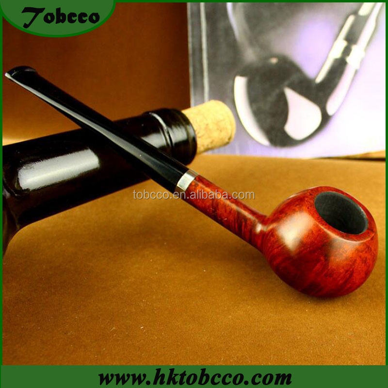 Hand made Briar wooden material pipe Good Quality Wood tobacco pipe