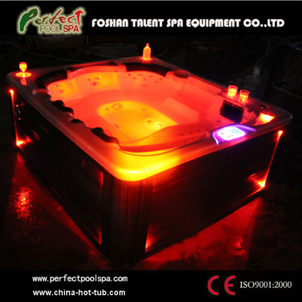 Newly design 7 person outdoor whirlpool with 7 color LED light