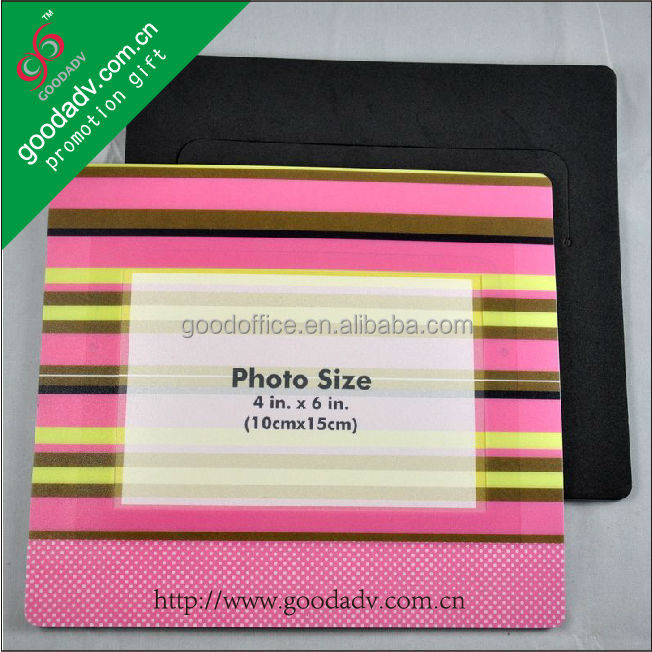 2012 Hot sales pp photo frame mouse pad