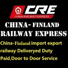From china to Finland railway fastest ways to 28 Europe country shipment by train Deliveryed Duty Paid logistics