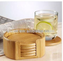 wooden drink coasters with holder