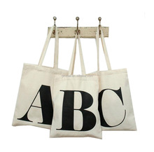Eco-friendly and easy to carry fashion promotional custom printed canvas tote bag